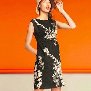J. CREW Floral Embroidered Mirabel Dress